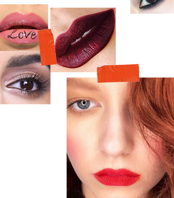 red lips valentines makeup