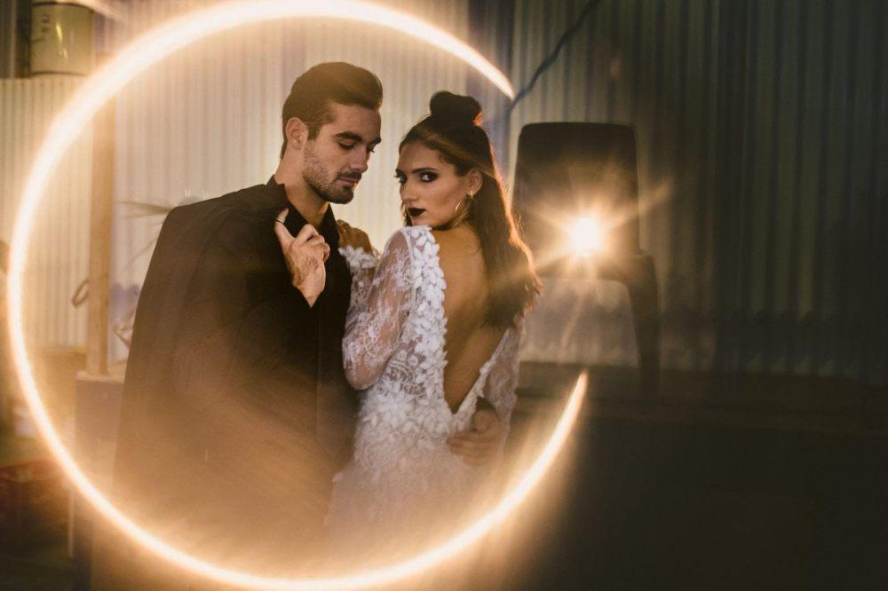 dark vs light bridal hair and makeup durban photo shoot