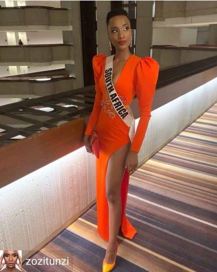 Zozibini Tunzi Mrs Universe 2019 Mrs South Africa Outfit Belt (1)